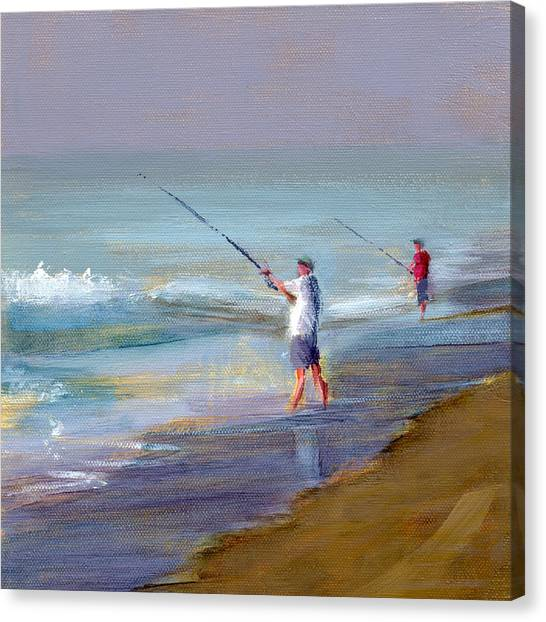 Fishing Canvas Print - Rcnpaintings.com by Chris N Rohrbach