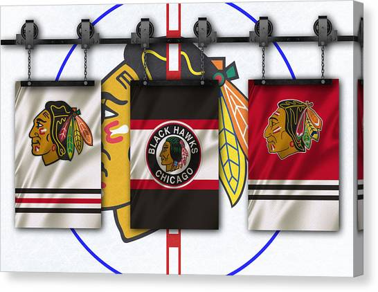 Chicago Blackhawks Canvas Print - Chicago Blackhawks by Joe Hamilton