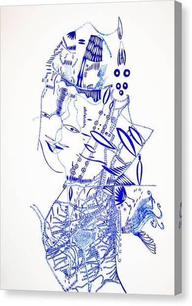 Gloria Canvas Print - Dinka Lady - South Sudan by Gloria Ssali