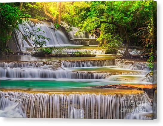 Erawan Waterfall Canvas Print
