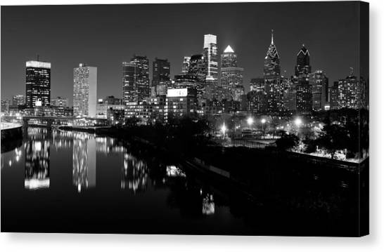 Philadelphia Skyline Canvas Print - 23 Th Street Bridge Philadelphia by Louis Dallara