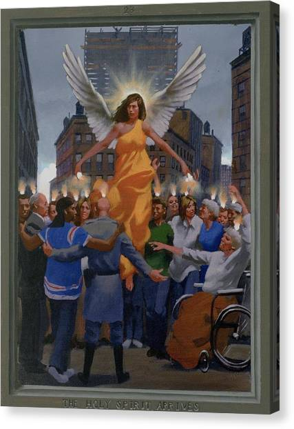 23. The Holy Spirit Arrives / From The Passion Of Christ - A Gay Vision Canvas Print by Douglas Blanchard