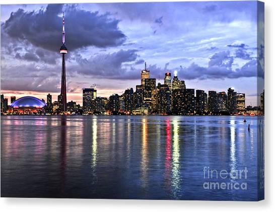 Toronto Skyline Canvas Print - Toronto Skyline by Elena Elisseeva