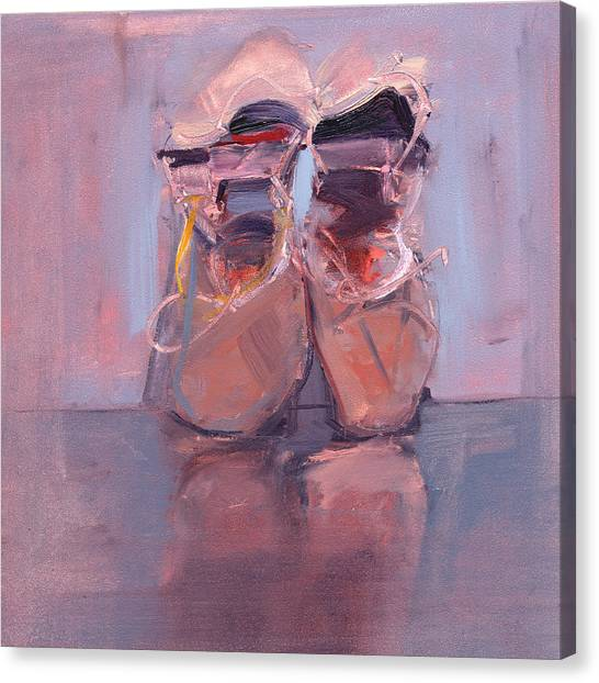 Ballet Shoes Canvas Print - Rcnpaintings.com by Chris N Rohrbach