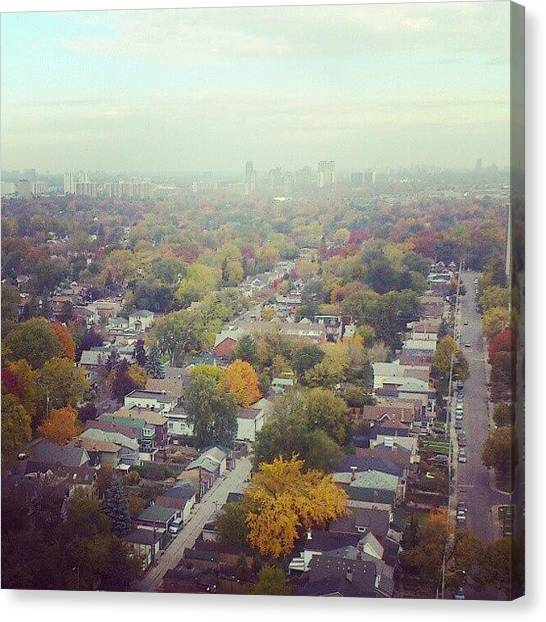 Toronto Skyline Canvas Print - 23rd Floor View Of East by Shane Gabriel