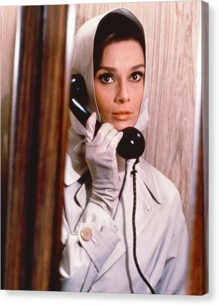 Audrey Hepburn Canvas Print - Audrey Hepburn by Silver Screen