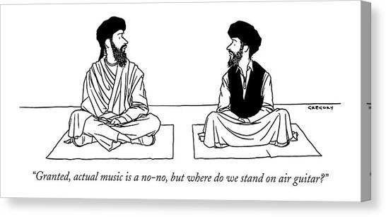 Islam Canvas Print - Granted, Actual Music Is A No-no, But Where by Alex Gregory