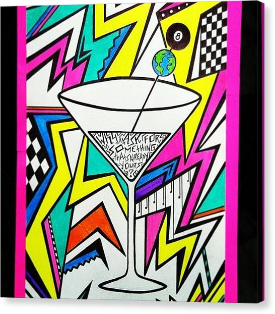 Martini Canvas Print - Instagram Photo by Gina Marie