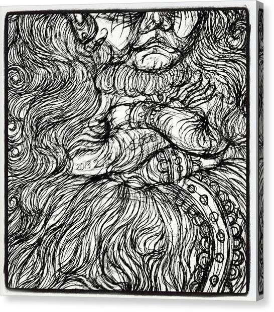 The Crown Canvas Print - 狂った道化師人形下部。 by Akiko Okabe