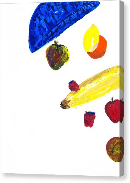 248 Spilled Life With Fruit Canvas Print by Aaron Aadamson
