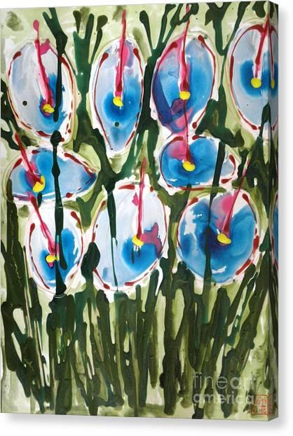 Zenmoksha Flowers Canvas Print by Baljit Chadha