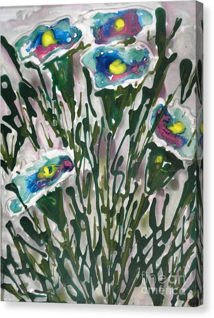 Zenmoksha Flowers Canvas Print by Baljit Chadha