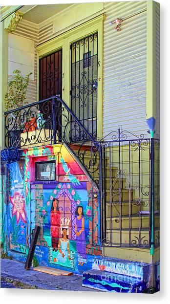 25 Balmy Alley San Francisco Canvas Print