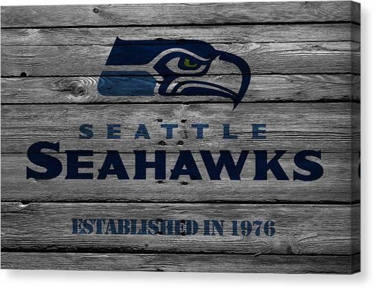 Touchdown Canvas Print - Seattle Seahawks by Joe Hamilton