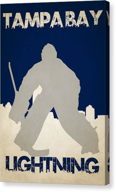 Tampa Bay Lightning Canvas Print - Tampa Bay Lightning by Joe Hamilton