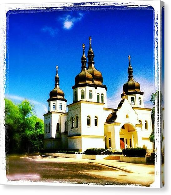 Medieval Art Canvas Print - Ukranian Orthodox Church by Heidi Hermes