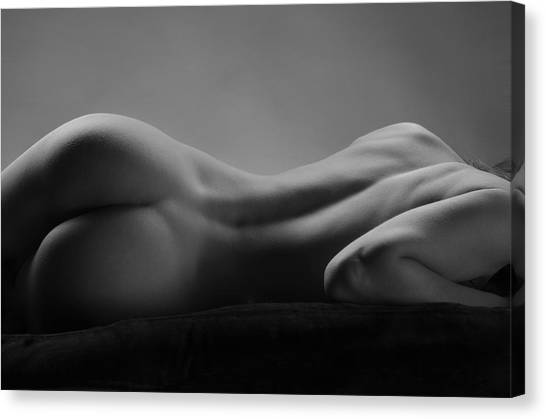 2533 Avonelle Bw Nude Back  Canvas Print
