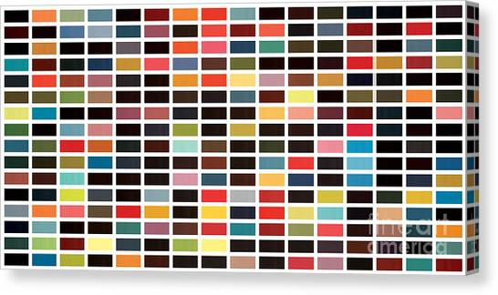 Gerhard Richter Canvas Print - 256 Colors by Max Requenes