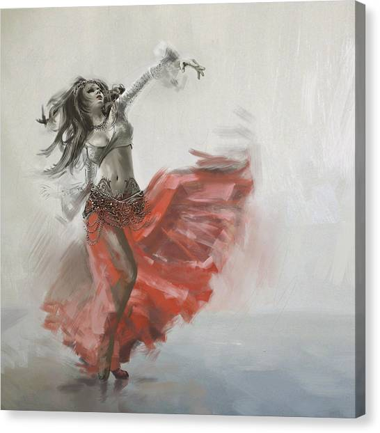 Egyptian Art Canvas Print - Belly Dancer 4 by Corporate Art Task Force