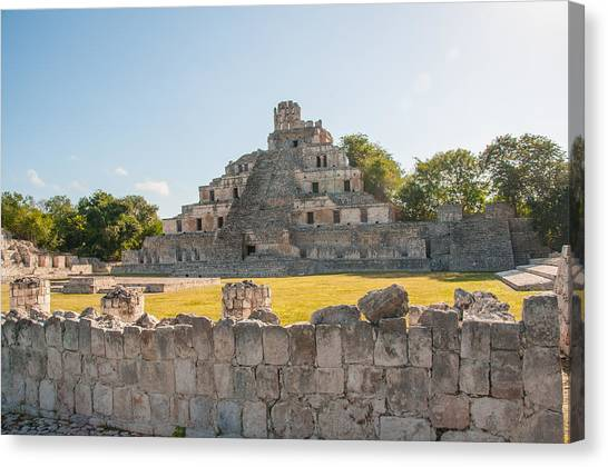 Edzna In Campeche Canvas Print