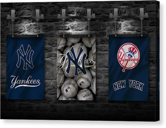 Baseball Teams Canvas Print - New York Yankees by Joe Hamilton