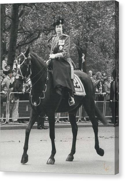 Trooping The Colour Ceremony Canvas Print by Retro Images Archive