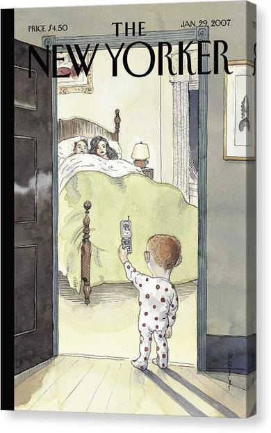 New Yorker January 29th, 2007 Canvas Print by Barry Blitt