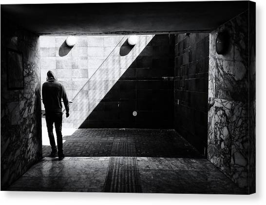 Tunnels Canvas Print - Untitled by Massimo Della Latta