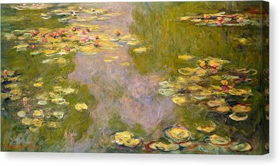 The Metropolitan Museum Of Art Canvas Print - Water Lilies by Claude Monet