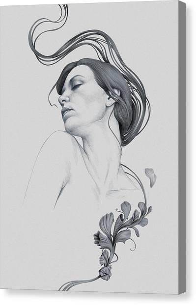 Art Nouveau Canvas Print - 265 by Diego Fernandez
