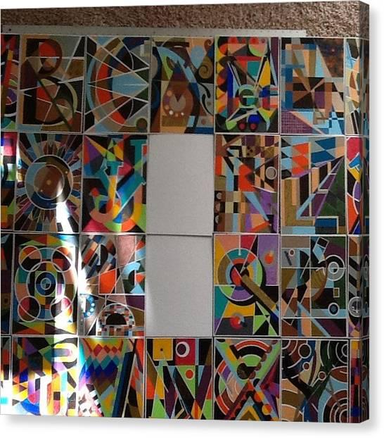 New Alphabet Series Canvas Print