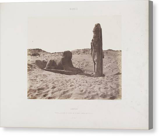 Mythological Creatures Canvas Print - Photograph Of The Egyptian Landscape by British Library