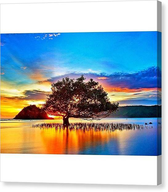 Beach Sunsets Canvas Print - Instagram Photo by Tommy Tjahjono