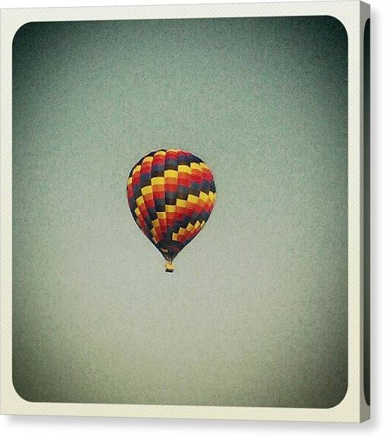 Hot Air Balloons Canvas Print - Look Up  by Jillian  Lane