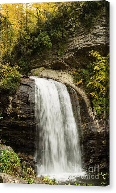 2718 Looking Glass Falls Canvas Print by Stephen Parker