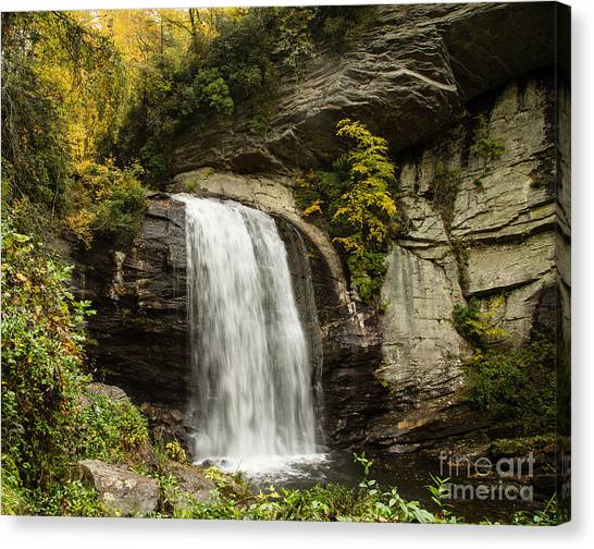 2719 Looking Glass Falls Canvas Print by Stephen Parker