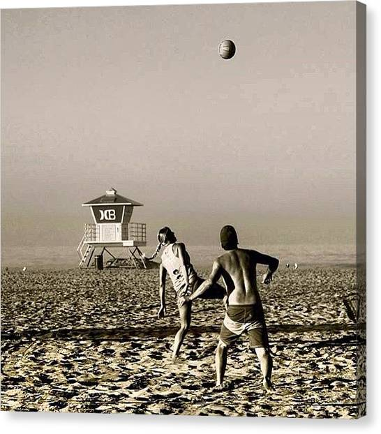 Volleyball Canvas Print - #photooftheday , #photography by Tony Martinez