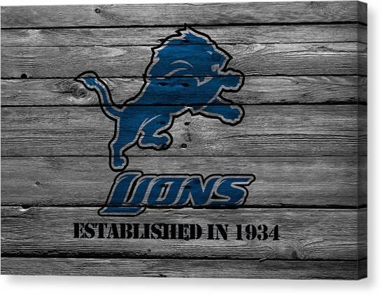 Detroit Lions Canvas Print - Detroit Lions by Joe Hamilton