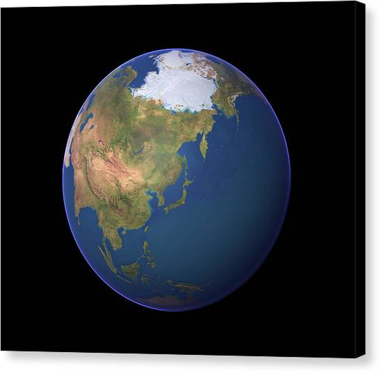Earth Canvas Print by Planetary Visions Ltd/science Photo Library