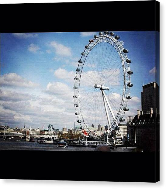 London Eye Canvas Print - Instagram Photo by Laurita Trainyte