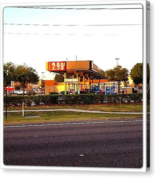 Cheap Canvas Print - $2.99 For Gas ;) Ahhh Yeaaa #fillup by Amber Baby