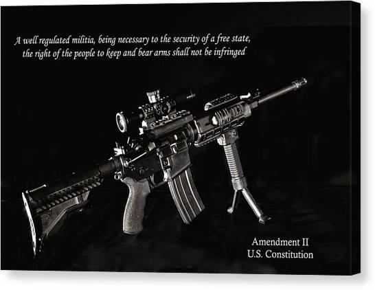 2nd Amendment Canvas Print