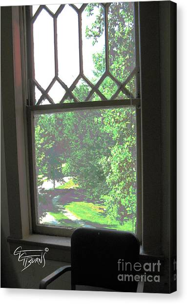 Eastern Kentucky University Canvas Print - 2nd Floor View At Esh by GG Burns