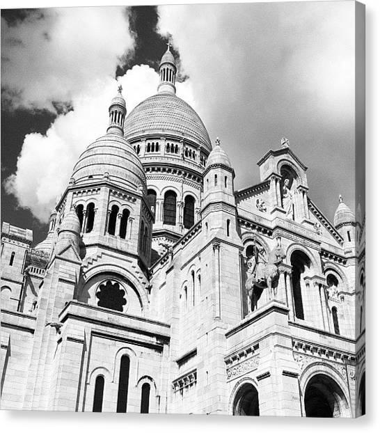 Paris Skyline Canvas Print - 🇫🇷 #skyline #skyscape #clouds by Mladen Djumic