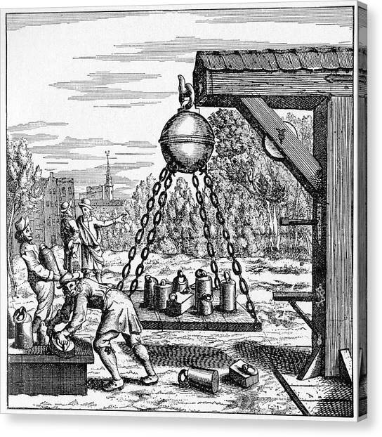 17th Century Vacuum Experiment Canvas Print by Cci Archives