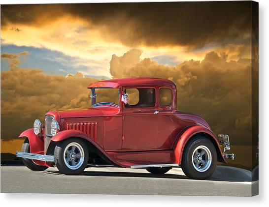 1931 Ford Model A Coupe Canvas Print by Dave Koontz