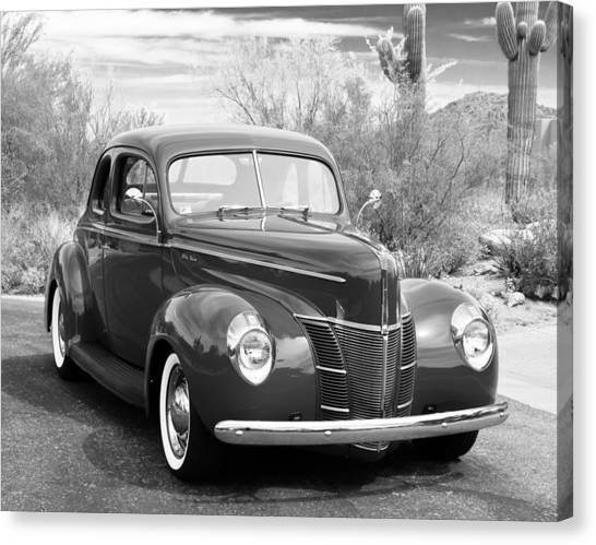 Grey Canvas Print - 1940 Ford Deluxe Coupe by Jill Reger