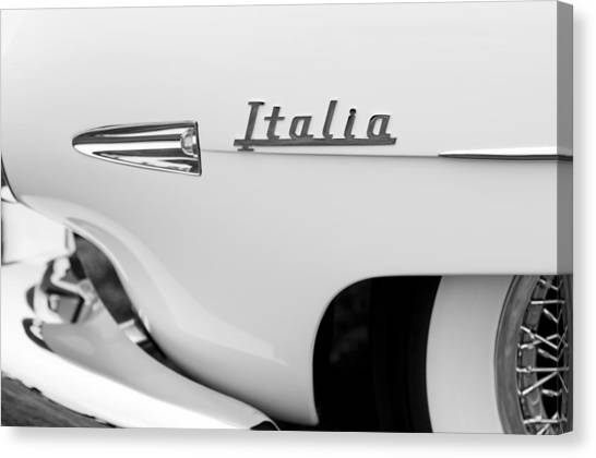 Touring Canvas Print - 1954 Hudson Italia Touring Coupe Emblem by Jill Reger