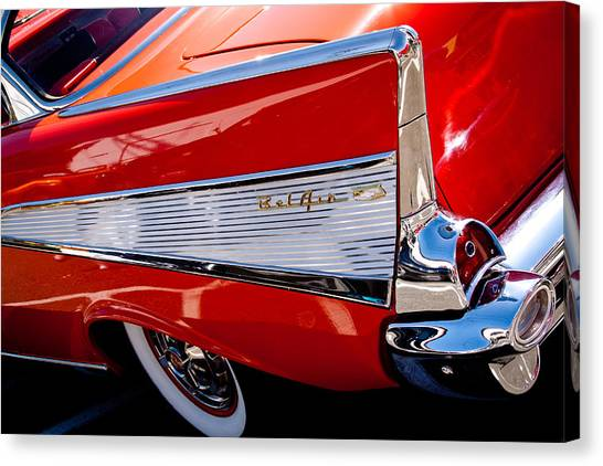 1957 Chevy Bel Air Custom Hot Rod Canvas Print