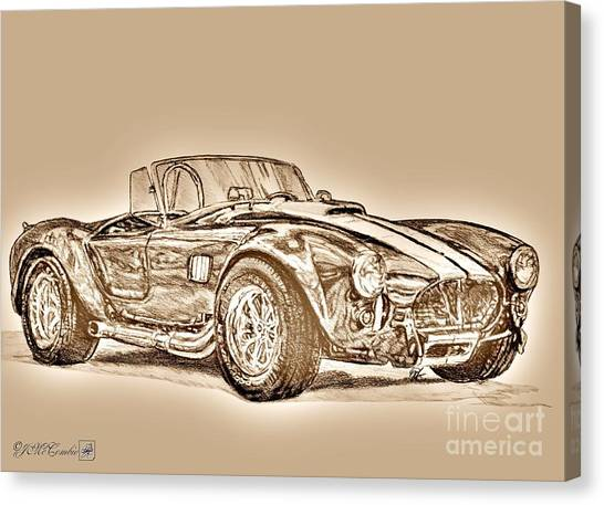 Canvas Print - 1965 Muscle Car by J McCombie